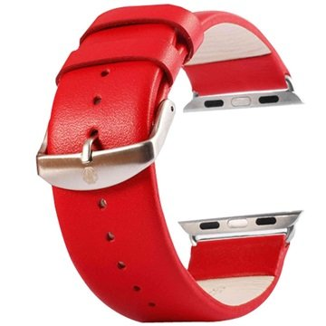 Apple Watch Tuff-luv Leather Wristband - 42mm - Red