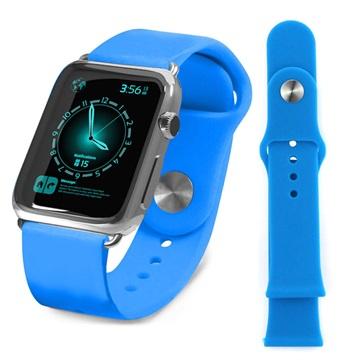 Apple Watch Tuff-luv Silicone Wristband - 38mm - Blue