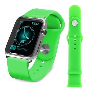 Apple Watch Tuff-luv Silicone Wristband - 38mm - Green