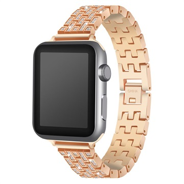 Apple Watch Luxury Stainless Steel Strap - 38mm - Gold