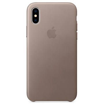 iPhone X Apple Leather Case MQT92ZM/A - Taupe