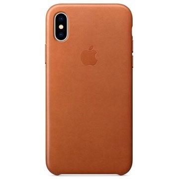 iPhone X Apple Leather Case MQTA2ZM/A - Brown
