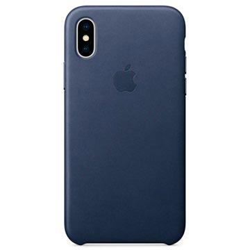 iPhone X Apple Leather Case MQTC2ZM/A - Midnight Blue