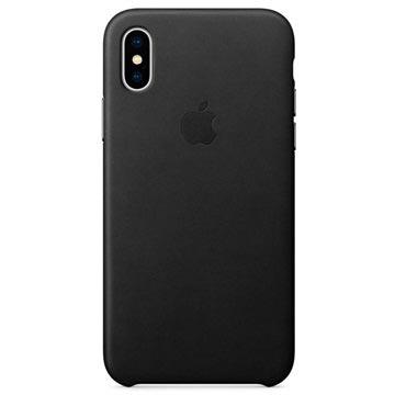 iPhone X Apple Leather Case MQTD2ZM/A - Black
