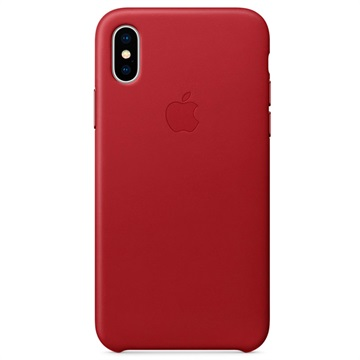 iPhone X Apple Leather Case MQTE2ZM/A - Red