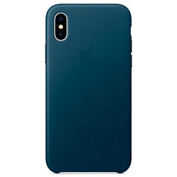 iPhone X Apple Leather Case MQTH2ZM/A - Cosmos Blue