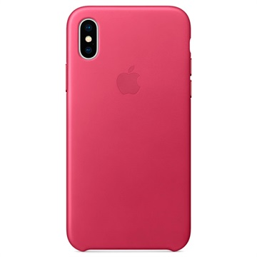 iPhone X Apple Leather Case MQTJ2ZM/A - Pink