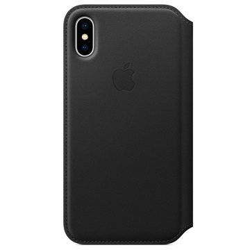 iPhone X Apple Leather Folio Case MQRV2ZM/A - Black