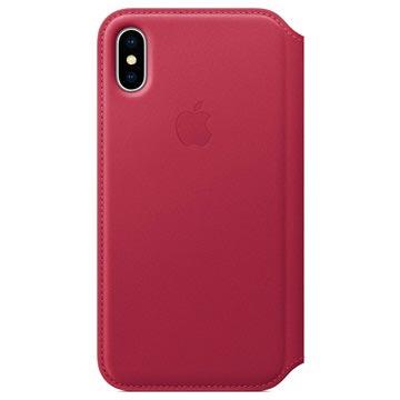 iPhone X Apple Leather Folio Case MQRX2ZM/A - Berry