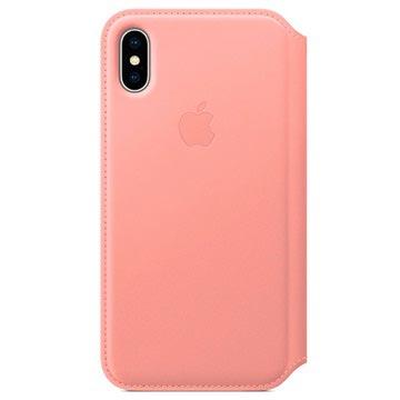 iPhone X Apple Leather Folio Case MRGF2ZM/A - Soft Pink