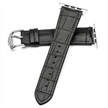 Apple Watch Qialino Leather Strap - 38mm - Black