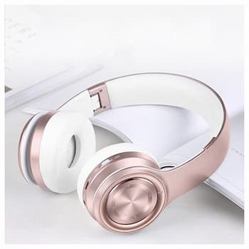 Rose gold Picun P26 wireless headphones