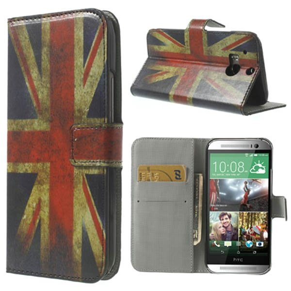 HTC One M8 Union Jack Leather Case