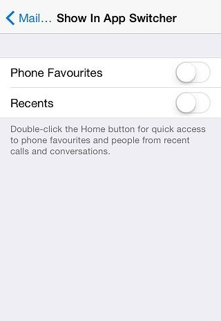 Toggle Contacts to Off