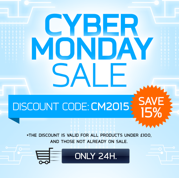 Save 15% with a special Cyber Monday discount