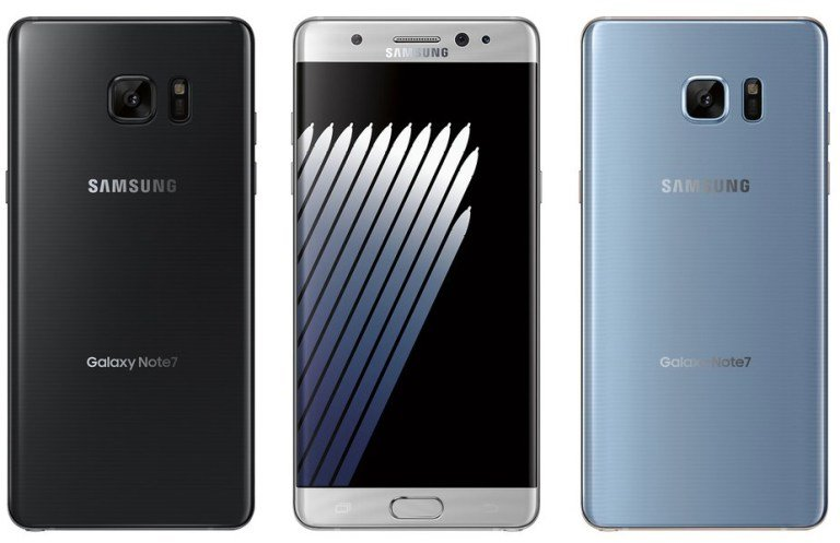 Galaxy Note7 front and back