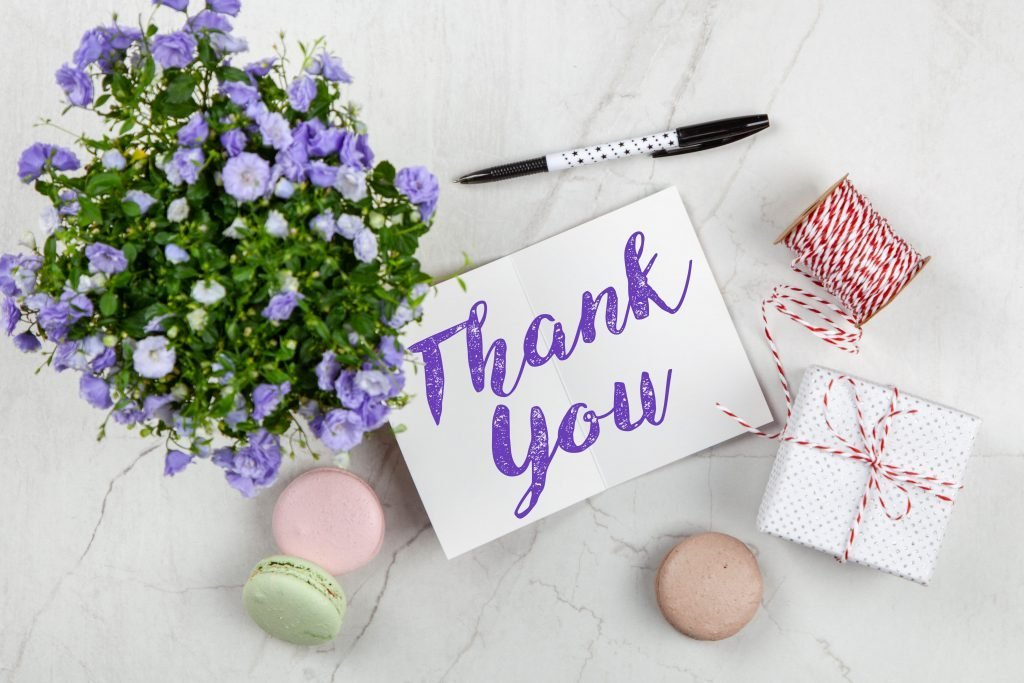 Write your own Thank You card