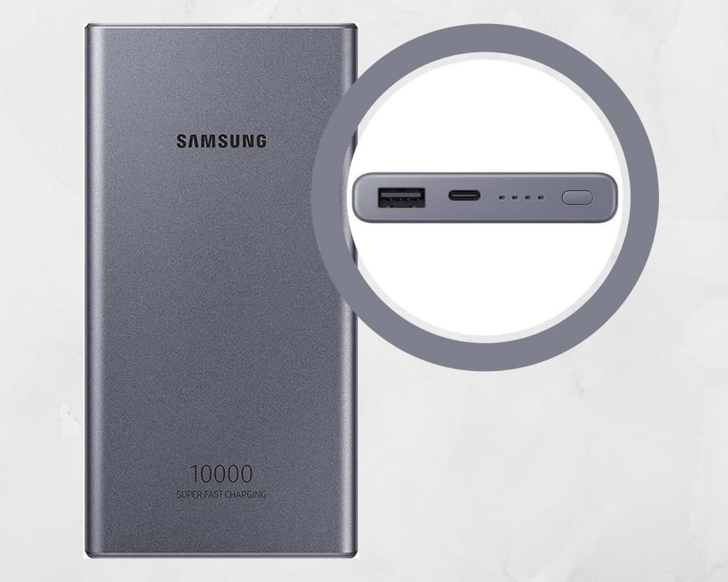 Power bank of 10000mAh from Samsung
