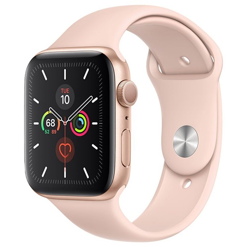 Pink Apple Watch 5 with sport band