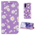 Daisy Pattern Samsung Galaxy S20 Wallet Case