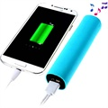 2 in 1 External Battery / Power Bank Speaker - Blue
