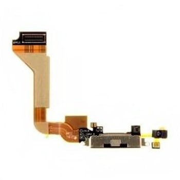 iPhone 4 Compatible System Connector & Flex Cable - Black