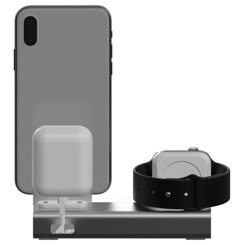 3-in-1 Aluminum Alloy Charging Station - iPhone, Apple Watch, AirPods