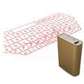3 in 1 Bluetooth Laser Keyboard & Mouse / Power Bank F3 - Gold