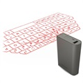 3 in 1 Bluetooth Laser Keyboard & Mouse / Power Bank F3 - Grey