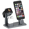 3-in-1 Charging Stand HJZJ001 - iPhone, Apple Watch, AirPods - Grey
