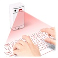 3 in 1 Virtual Bluetooth Laser Keyboard & Mouse / Speaker - White