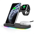 3-in-1 Wireless Charging Stand for Apple iPhone, iWatch, and Airpods