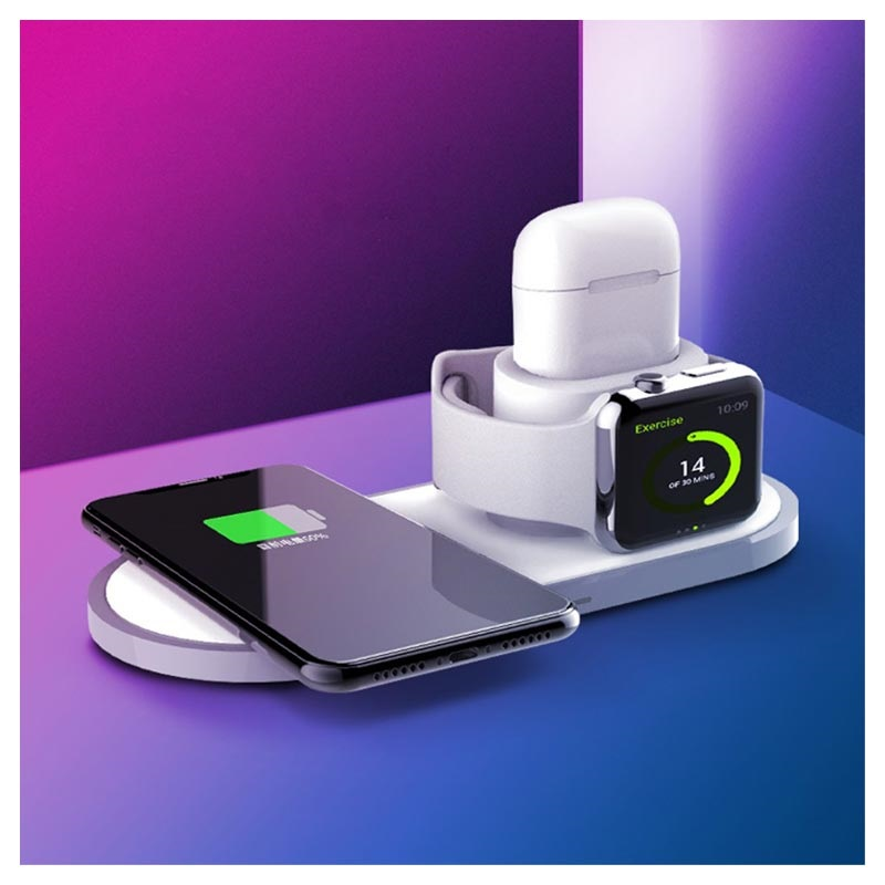 3 In 1 Wireless Charging Station Iphone Apple Watch