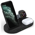 3-in-1 Wireless Charging Station W55 - iPhone, AirPods, iWatch - Black