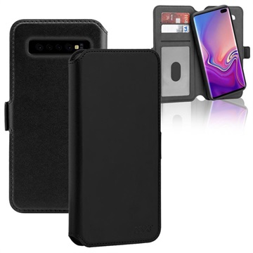 3Sixt NeoWallet 2-in-1 Samsung Galaxy S10 Leather Case - Black