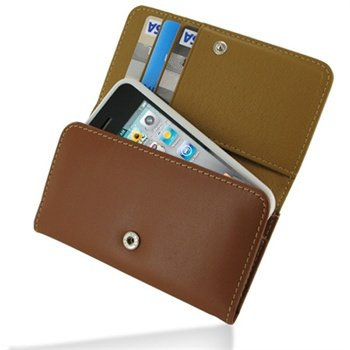 iPhone 4 / 4S PDair Wallet Leather Case - Brown
