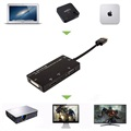 4-in-1 HDMI / DVI, VGA, 3.5mm Audio, HDMI Adapter - Black