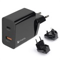 4smarts VoltPlug Fast USB Travel Charger Set - USB PD & QC3.0 - 18W - Black