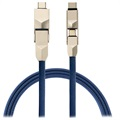 4smarts ComboCord 6-in-1 Cable - MicroUSB, Lightning, USB-C - Blue