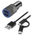 4smarts Hybrid Fast Car Charger Set - Charger & ComboCord Cable - 15.5W (Bulk)