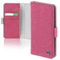 "4smarts UltiMAG Laneway Fabric Universal Wallet Case - 5.2"" - Pink"