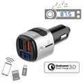 4smarts Media&Assist Bluetooth FM Transmitter & Fast Car Charger - Black