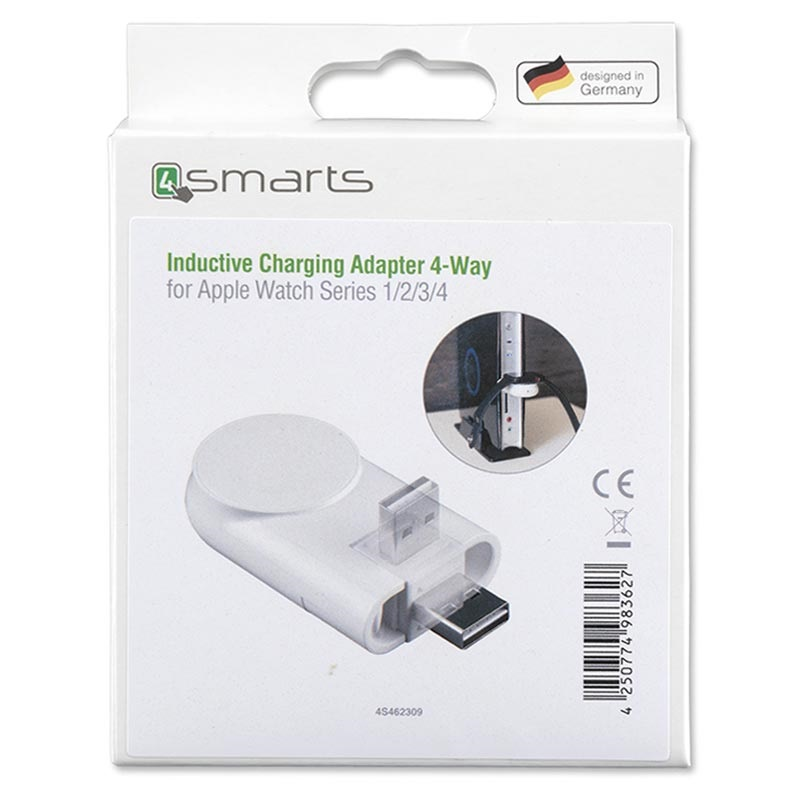 4smarts Portable Apple Watch Series 5/4/3/2/1 Wireless Charger - White