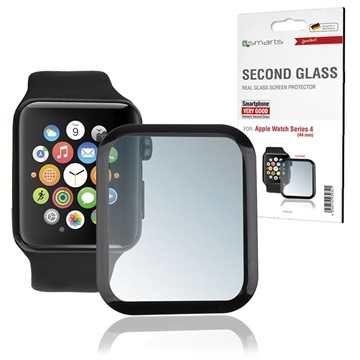 4smarts Second Glass Apple Watch Series 5/4 Screen Protector - 44mm - Black