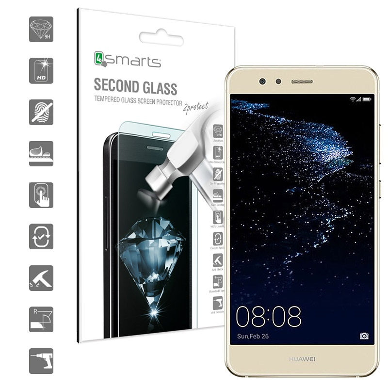 huawei p10 lite 4smarts second glass screen protector. Black Bedroom Furniture Sets. Home Design Ideas