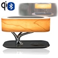 4smarts Smart-Bonsai-Qi Wireless Charger with Bluetooth Speaker & LED Lamp