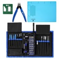 78-in-1 Professional Electronics Repair Tool Kit with Repair Mat