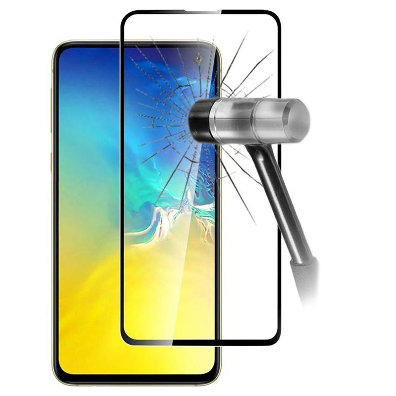 9D Full Cover Samsung Galaxy S10e Tempered Glass Screen Protector - Black