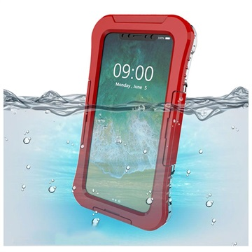 iPhone X / iPhone XS Active Series IP68 Waterproof Case - Red