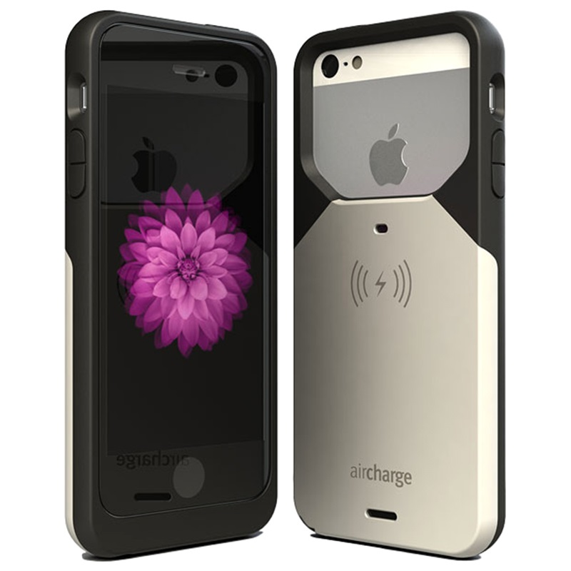 iphone 5s charging case iphone 5 5s se aircharge wireless charging black 14776